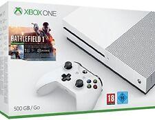 Xbox One S 500 GB Spielkonsole - Battlefield 1 Bundle (weiß) + 4 Spiele dazu