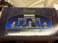 """New Fontanini Italy 5""""Retired Lighted Town Gate Nativity Village Accessory 50252"""
