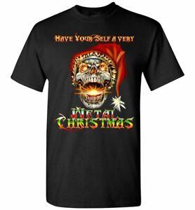 Skull Santa Heavy Metal Christmas Holiday Shirt Glidan s - 5xl Unisex Funny