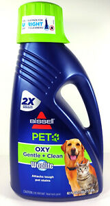 Bissell Pet Oxy Gentle Plus Clean With Woolite Carpet Cleaner Shampoo, 62 fl oz