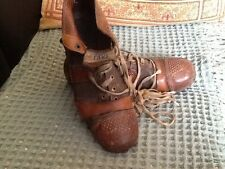 the cert vintage leather football rugby boots size 10 1930s 1920s art deco