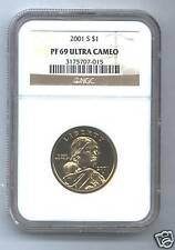 Dollar Sacagawea 2001-S NGC PF69 Ultra Cameo.