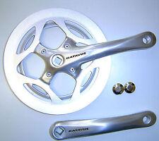 Batavus by Sugino singelspeed fixie manivela 48 Z cuatro cantos 170mm aluminio plata nuevo