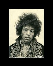 Jimi Hendrix singer/songwriter drawing from artist art Image picture