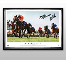 Black Caviar Signed Moody Nolen Record Breaker Limited Edition Framed Iso Print