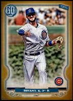 Kris Bryant 2020 Topps Gypsy Queen 5x7 Gold #38 /10 Cubs