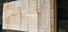 "VINTAGE RARE 1942 SECTIONAL AERONAUTICAL CHART MAP LINCOLN, NE 44"" X 24"""