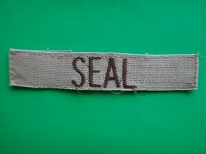 Desert Tan US Army Name Tape SEAL Pocket Patch