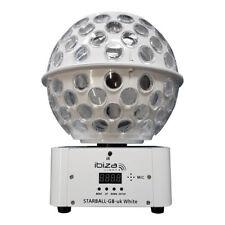 2x Ibiza Light Starball-gb White Equinox 1m Plinth Podium Disco Kit DMX Lead