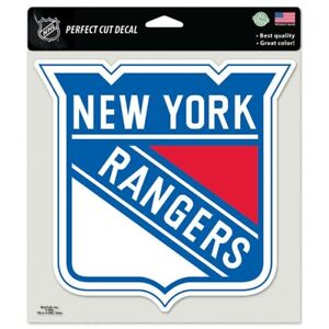"""NEW YORK RANGERS LOGO 8""""X8"""" COLOR DIE CUT DECAL BRAND NEW FREE SHIPPING WINCRAFT"""