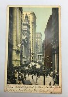 Antique Postcard NYC - Broad Street  , New York  /AS IS Posted 1907 / Rare
