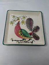 Outstanding HEAVILY MARKED PORCELAIN TRINKET TRAY FROM DENMARK, ABOUT 5.3 X 5.3
