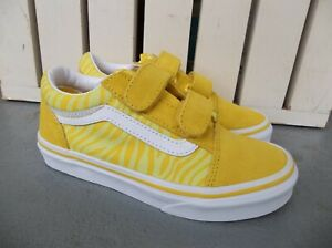 NWT VANS GIRLS/YOUTH OLD SKOOL V (NEON ANIMAL) SNEAKERS/SHOES SIZE 13.NEW 2021.