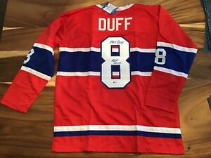 Dick Duff one Hand signed Custom Jersey HOF 2006