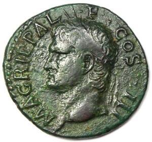 Ancient Roman Agrippa AE As Coin Struck Under Caligula 37-41 AD - Good VF