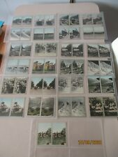 Cavanders Coloured Stereoscopic 1931 Full Set 50 cards in plastic sleeves