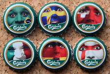 CARLSBERG  WORLD CUP 2006 FOOTBALL BEER BOTTLE CAPS  BIER TAPPI COMPLETE- LAST