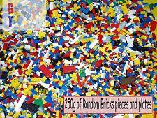 LEGO 250g 1/4 Kg misto Mattoni, Parti e pezzi-tutto pulito e autentico-BULK