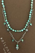 SILPADA Sterling Silver Turquoise Howlite Kyanite Beaded Necklace~N1675~RETIRED!