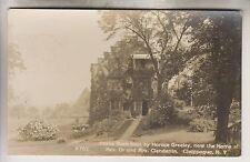 1912 RPPC - HOME OF REV. DR. AND MRS. CLENDENIN - CHAPPAQUA NEW YORK