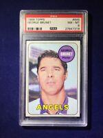 1969 Topps George Brunet #645 PSA 8 California Angels