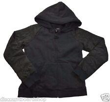 Hurley MAX SHERPA Black Hooded Zip UP Pockets Junior's Jacket