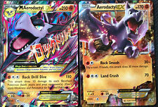 Pokemon PROMO Card MEGA AERODACTYL EX XY98 AERODACTYL EX XY97 Regular Size Cards