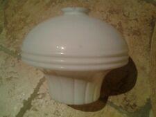 ANCIEN VERRE DE LAMPE OPALINE ART DECO/LUMINAIRE/LUSTRE/PLAFONNIER /