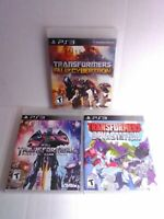 3 Transformers PlayStation 3 Games Tested & Fast Shipping