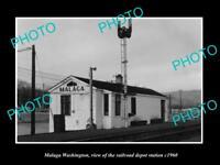 OLD LARGE HISTORIC PHOTO OF MAGALA WASHINGTON, THE RAILROAD DEPOT STATION c1960