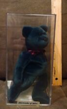 RARE Authenticated Ty New Face Jade Teddy Beanie Baby - 1st gen Tush.
