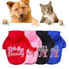 Warme Winter Hund Kleidung Weich Kapuzenpullover Jacke Pet Mantel Pullover Katze
