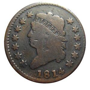 Large cent/penny 1814 beautiful circulated original
