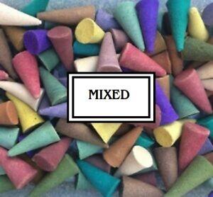25/50/100   Loose  incense cones .Various Fragrances....Geniune Indian cones