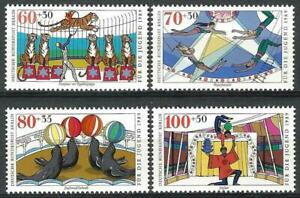 Germany Berlin 1989 MNH Youth Welfare Circus Trapeze Sealions Jugglers Lions