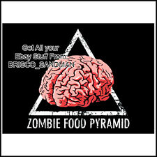 Fridge Fun Refrigerator Magnet ZOMBIE FOOD PYRAMID Zombies Walking Dead Funny
