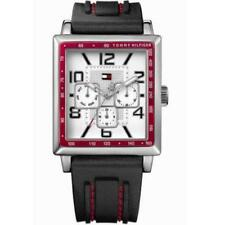 TOMMY HILFIGER MEN'S WATCH 1790703 CHRONO BLACK SILICONE BAND