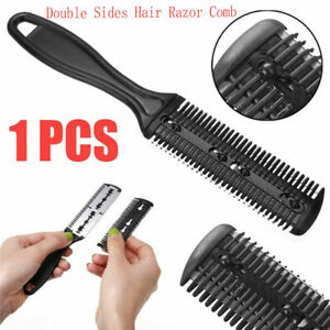 Styling Tool Trimmer Hairdressing Thinning Double Sides Hair Razor Comb/