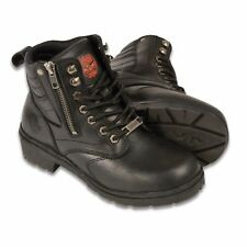Milwaukee Leather Ladies Black Lace up Riding BOOTS W Side ZIPPER Size 5