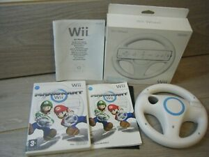 MARIO KART WII NINTENDO WII GAME WITH MANUAL AND 1 BOXED OFFICIAL WII WHEEL