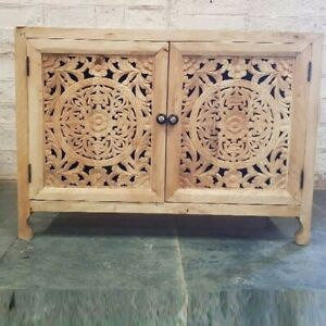 Made to Order Dynasty Hand Carved Indian Solid Wood Buffet Cabinet Sideboard L