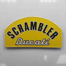 24 Inch Ducati Scrambler Embossed Aluminum Metal Tin Tacker Sign