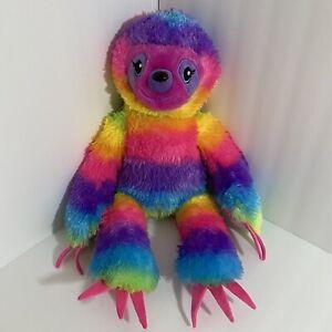 "Build A Bear Rainbow Sloth 18"" Plush Soft Toy Stuffed Animal BABW Retired"