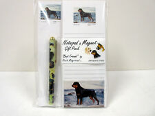 New Rottweiler List Pad Note Pad Magnet & Pen Stationery Gift Pack By Ruth ROT-9