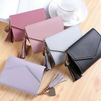 Mini Women Leather Tassel Wallet Clutch Coin Purse Card Holder Small Handbag 02