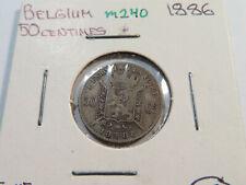 M240 Belgium 1886 50 Centimes