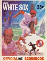 1971 (July 7) Baseball program Oakland A's @ Chicago White Sox, unscored ~ VG