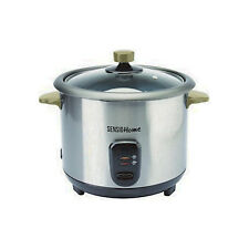SENSIO 1.8L 2 IN 1 RICE COOKER & STEAMER COOKING STAINLESS STEEL SILHOUETTES NEW