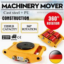 6T Roller 13200lb Transportfahrwerk Transportrollen Industrieroller Panzerrollen