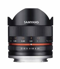 Samyang 8mm Fisheye F2.8 II Lens compatible with Fuji X-Black